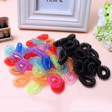 10 pcs telephone wire elastic Silicone rubber bands Gum spring for hair accessories scrunchy phone cord women girls