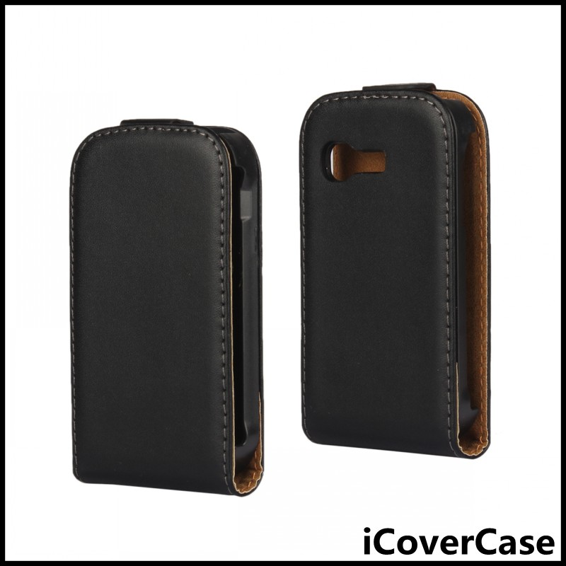Magnetic Leather Flip Cover Case for Samsung Galaxy Pocket S5300(China (Mainland))