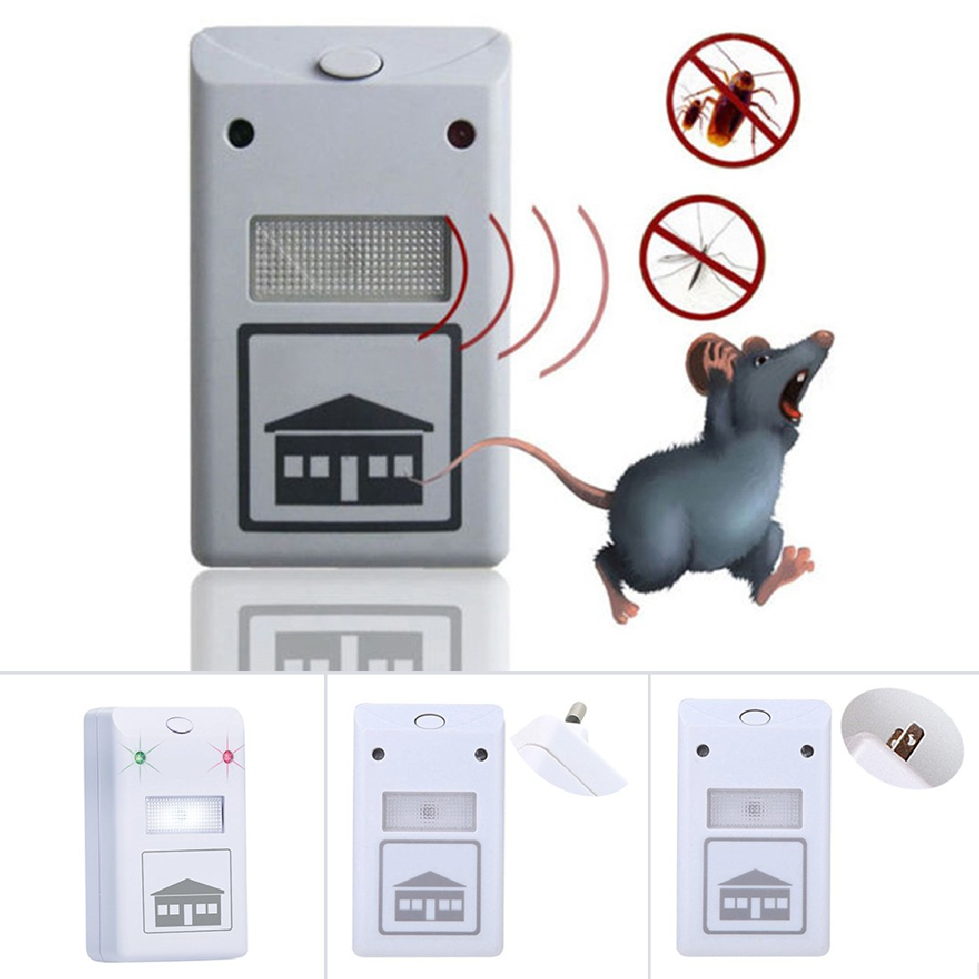 High Quality Useful Electronic Ultrasonic Mosquito Pest Mouse Killer Magnetic Repeller EU/US Plug