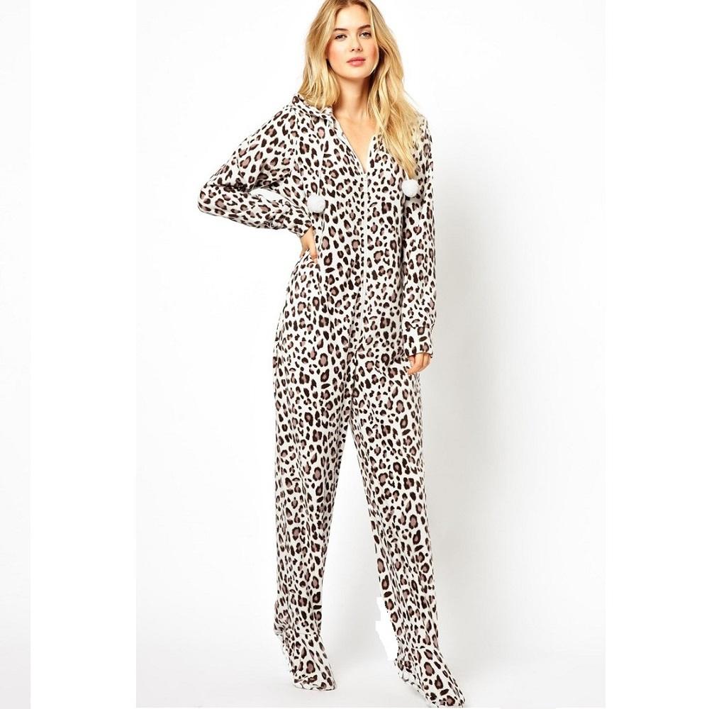 Euro Size Hooded & Footed Pajamas Women & Men Autumn ...