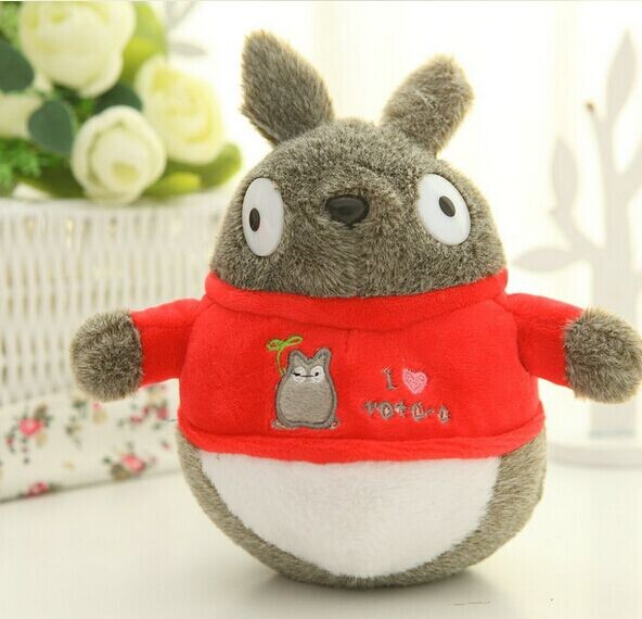 3 colors1 piece 19cm 2015 new arrived cartoon get dressed totoro stuffed toy plush toys Children's day baby boy girl gift doll(China (Mainland))