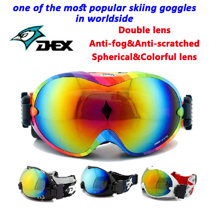 Double Lens Skiing Goggles Sport Snowboard Glasses Snow Goggle Dex YH26(China (Mainland))
