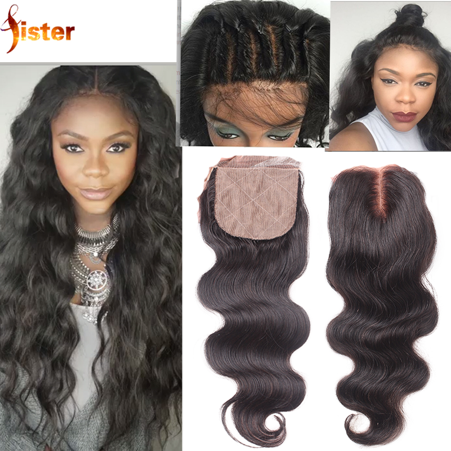 6A Indian Silk Base Closure Deep Curly 4x4 Virgin Human Hair Free Middle 3 Way Part Silk Closure With Baby Hair Stock Free Ship<br><br>Aliexpress