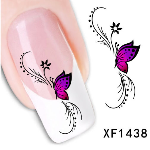DIY Decorations water transfer sticker tip nail art nail sticker nail water decal nail tools accessories 1pcs/lots XF1438(China (Mainland))