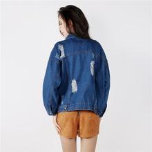 Wink Gal 2015 Autumn Winter Long Sleeve Vintage Street Style Jeans Jacket Women Gangster Denim Jacket