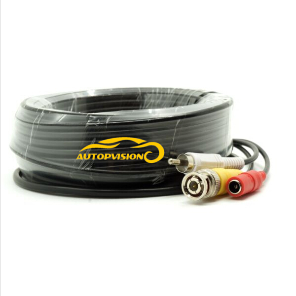 15M 50FT Audio Video Power Camera Cable BNC RCA CCTV Cable CCTV Camera Cable(China (Mainland))