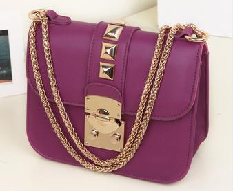 delicate 2015 Women's Fashion Handbags Rivet Shoulder Bags ...