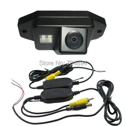 Free Shipping !!! Wireless SONY CCD Car Rear View Reverse CAMERA for Toyota Land Cruiser 120 150 Series Prado with Guide Line(China (Mainland))