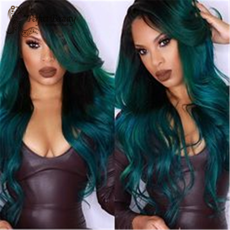 2015 Promotion synthetic wig heat Heat resistant long ombre synthetic wig cosplay
