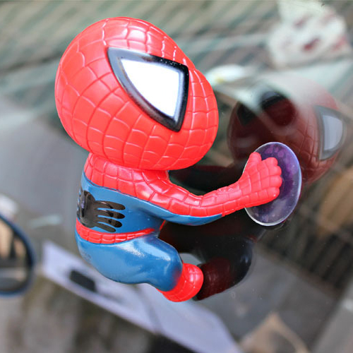 New 3D Spider Style with car rear window stickers head suckers exterior accessories, auto ornament doll stickers for car windows(China (Mainland))