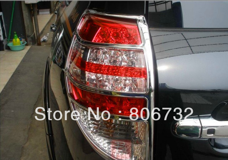 chromed rear tail light lamp cover trim taillight cover 2pcs for toyota rav4 2006 2007 2008 2009. Black Bedroom Furniture Sets. Home Design Ideas
