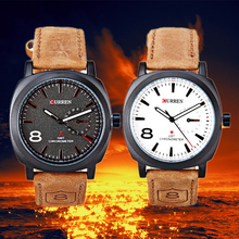 2015 Curren Watch Leather Strap Quartz Army Military Watch Casual Sport Whatch Men Clock relogio masculino wrist watch for men