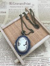 Fashion quartz Beautiful head princess pattern woman and girl gift pendant Necklace pocket watches(China (Mainland))
