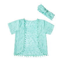 Summer Baby Kinomo Cardigan  New Design Baby Girl Kids clothes with headband