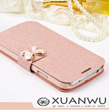Luxury Silk Pattern Flip Cover For Samsung Galaxy S4 i9500 s3 i9300 s5 Case PU Leather Phone Bags Flowers Cases Design Function(China (Mainland))