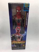 Os Vingadores Ferro Guerra Infinito Figura Aranha Spiderman Homem De Ferro Figura de Ação brinquedo Pantera Negra(China)