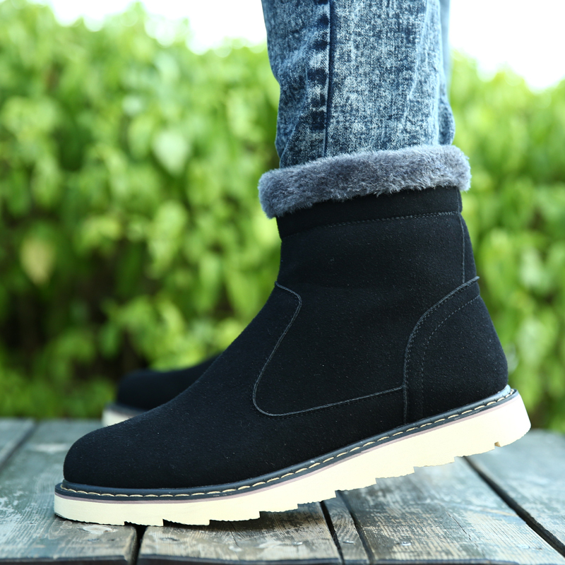 2015 Winter New Arrival Men Shoes For Fashion %100 Genuine Leather Thicken Keep Wear Snow Boots Mens Casual Martin Boots BC47(China (Mainland))