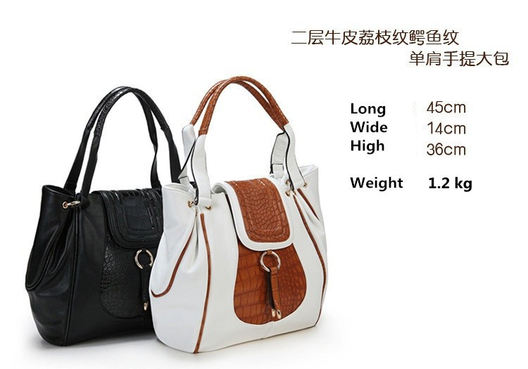 New Brand Casual Women Bag Fashionable Genuine Leather Handbags