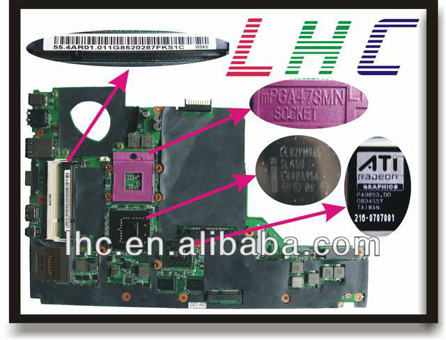 1435 motherboard 48.4AR02.011 for dell motherboard 1435 intel DDR2 PM965 and 100% fully tested