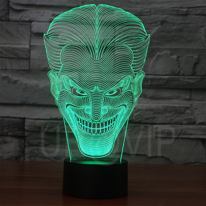 Amazing 3D Illusion Led Table Lamp Night Light With Joker