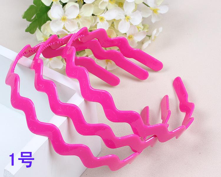 2015 Summer Children Candy Colors Acrylic Headband Wavy Shape Lovely Baby HairBands hot sale Mixed batch Adult & Kids Headbands(China (Mainland))