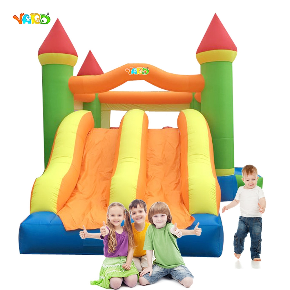 YARD Outdoor Party Inflatable Toys Jumping Castle Trampoline with Dual Slide Bounce House for Kids Gift(China (Mainland))