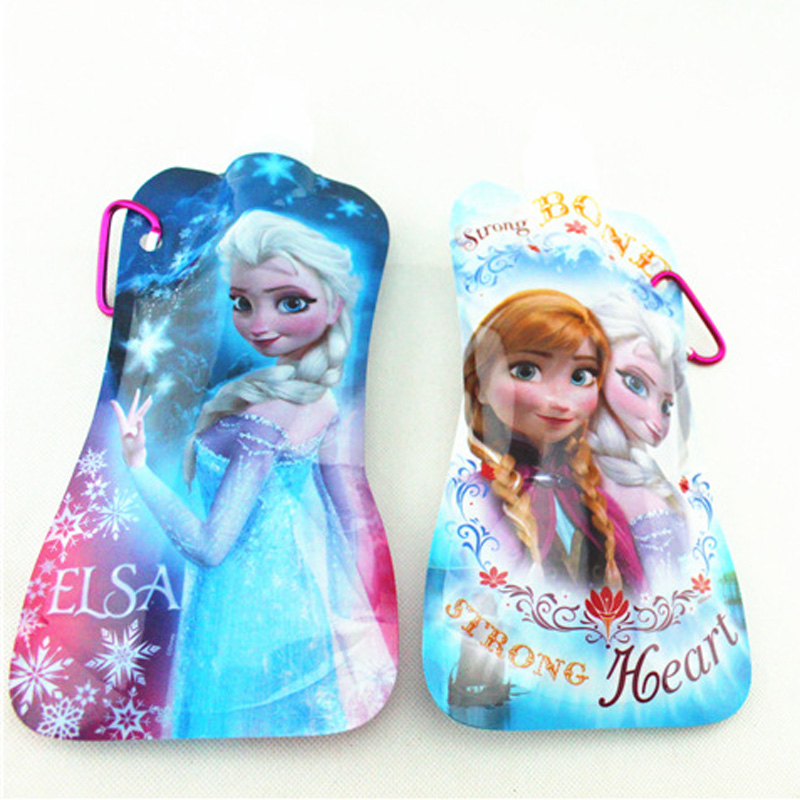 New Cartoon Princess Elsa & Anna Portable Folding Sports Water Bottle 480ml 16oz,Collapsible Water Bottle(China (Mainland))