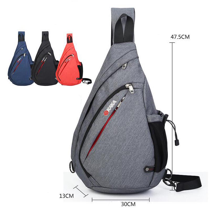 Men Large capacity Chest Pack Fashion Messenger Bags Crossbody Bag Sling triangle shoulder bags every day carry free shipping(China (Mainland))