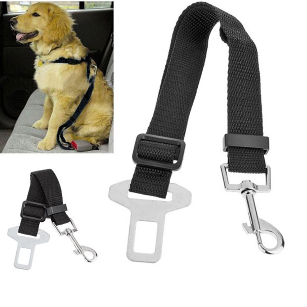 Adjustable Dog Cat Pet Car Safety Seat Belt Collars - Black Blue Pureple(China (Mainland))