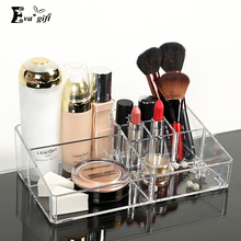 Crystal Acrylic Cosmetic Organizer Clear Makeup Jewelry Cosmetic Storage Display Box Acrylic Case Stand Rack Holder Organizer(China (Mainland))