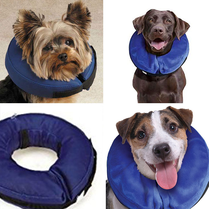 Dog Collar Inflatable Collar Dog E-Collar Pet Puppy Wound Healing Protection Protect Cone Size L(China (Mainland))