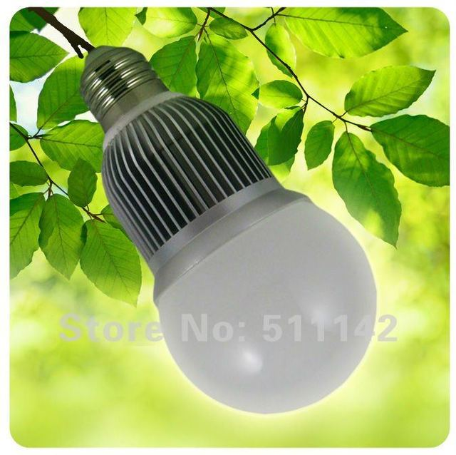 Classical 70mm 5W bulb dimmable led light bulb 500lm~550lm replacement incandescent bulb 60w, 10pcs/lot, free shipping