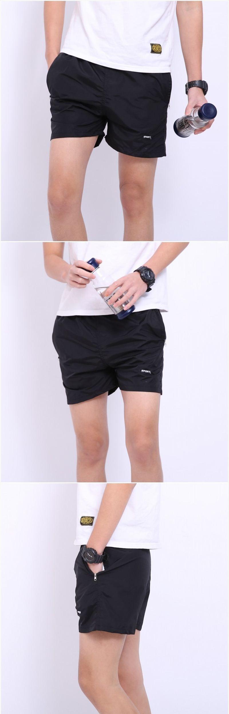 Анти-уф мужчины основные пляжные брюки спортивные шорты фитнес спортивные шорты мужские брюки работает мода брюки высокое качество
