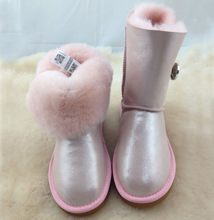 Luxury Women Classic Snow Boots Waterproof Sheepskin Wool One Natural Wool Inside Fur Boots Crystal Buckle Warm Winter Shoes<br><br>Aliexpress