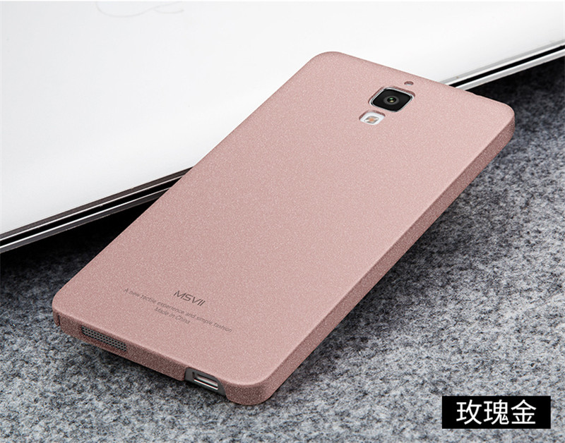 Luxury Original MSVII Super Slim Smooth & Matte Hard Back Cover Mobile Phone Cases For Xiaomi Mi 4 Case Accessory JS0159