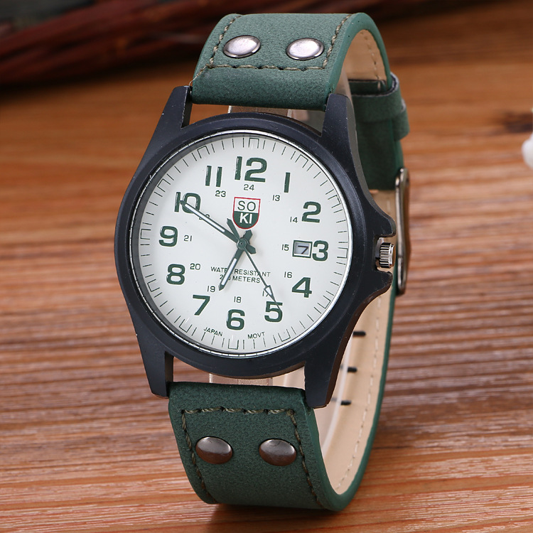 Free shipping via China Post Registered Air Mail Sanwony New Arrival Vintage Classic Men's Date Leather Strap Sport Quartz Watch(China (Mainland))