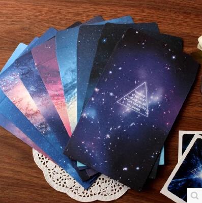 Min Order is $5,(9 Sheets/Lot) 16*11 CM DIY Scrapbooking Paper Dream Star Envelopes Vintage Wedding Envelope Gift Envelopes(China (Mainland))