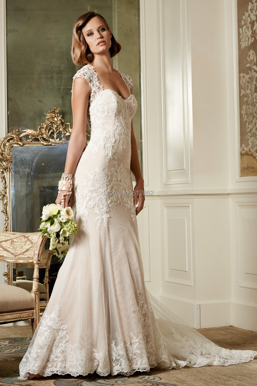Low Cut Zurück Hochzeitskleid