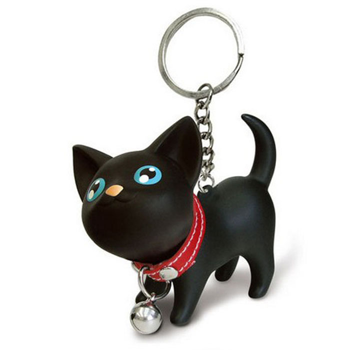 2015 New Hook Decoration For Handbag Cat Kitten Keychain Keyring Bell Key Chain Rings For Handbag Cute Accessories Freeship<br><br>Aliexpress