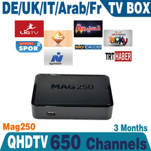 Linux French IPTV box MAG250 Europe IPTV Account 3month Subscription Canal MAG250 French Arabic IPTV Box Free Shipping