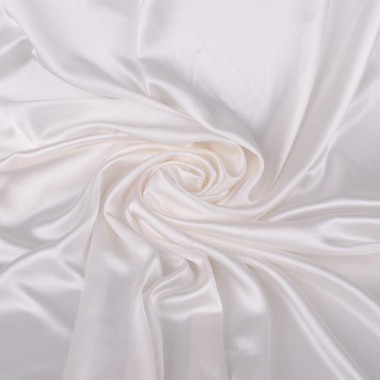 High-grade real silk crepe satin 100% mulberry cloth fabric white - he diandian's store