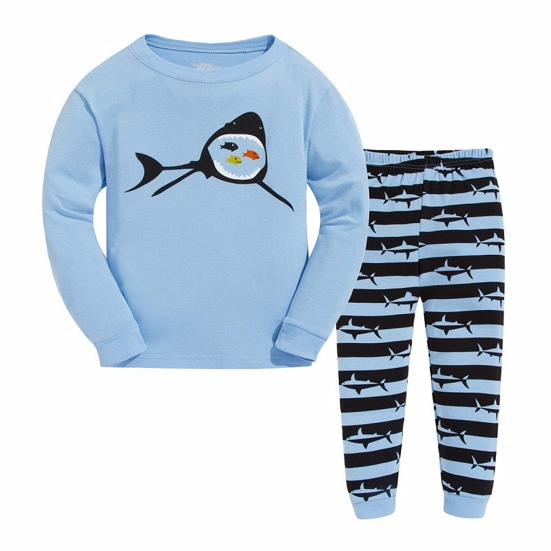 Free Shipping 2-7Years Kids Character Pajama Sets Children's Sleepwear Baby Christmas Cartoon Clothes Girl Boy Clothing Sets(China (Mainland))
