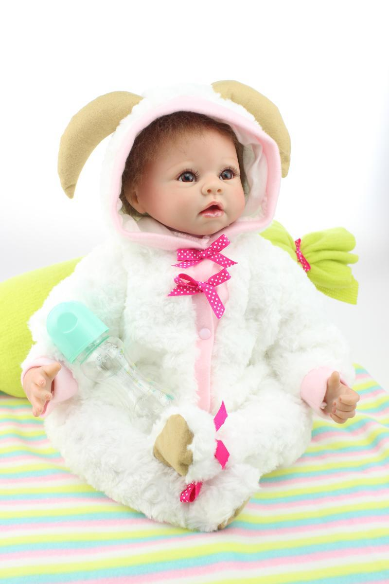22 inch 55cm silicone reborn dolls babies baby reborn bonecas best children birthday gift play for Best reborn baby dolls