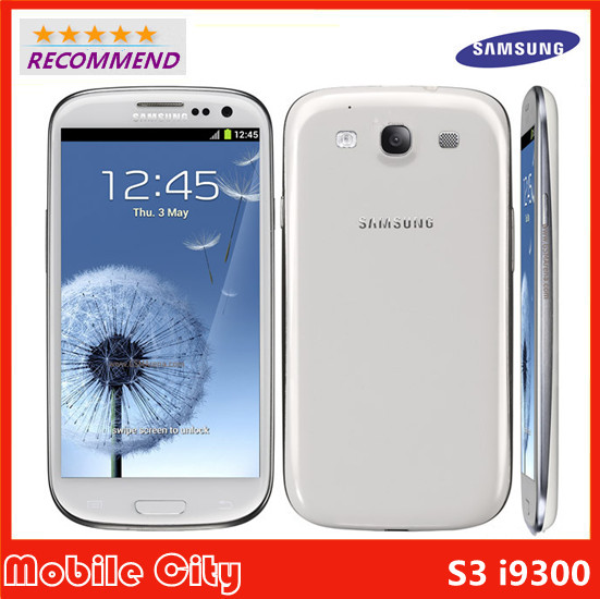 Original Samsung Galaxy S3 i9300 Refurbished Unlocked Cell phone Quad Core 8MP Camera NFC 4.8'' GPS GSM 3G WIFI Free Shipping(China (Mainland))