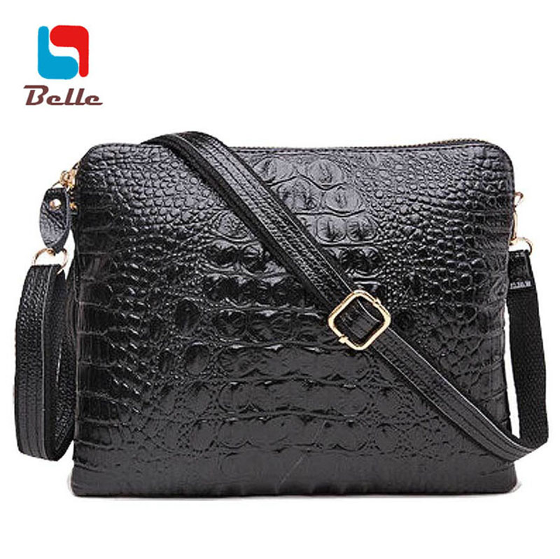 Genuine leather women messenger bags designer handbags high quality shoulder bags brand Crocodile pattern clutch purse A6G32