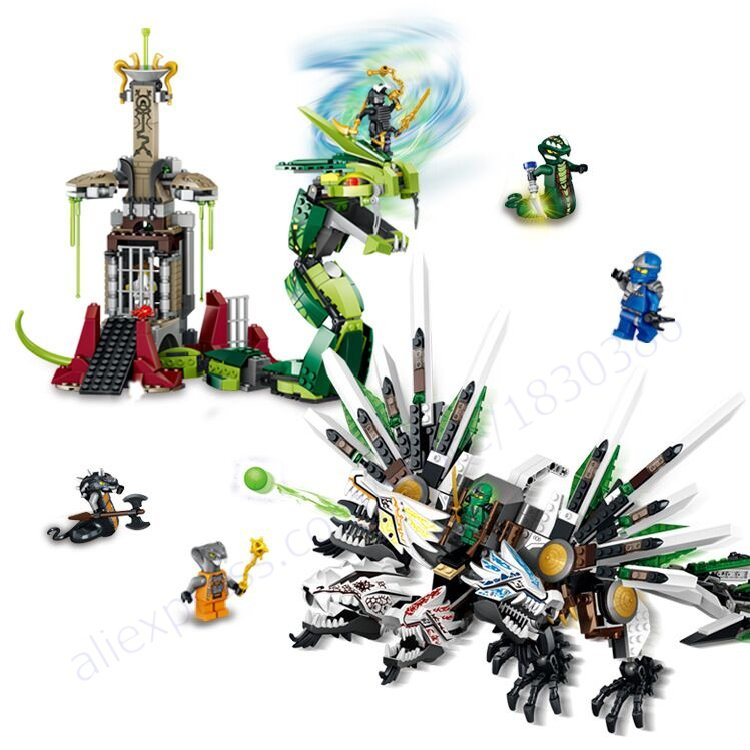 LELE 79132 Phantom Ninja Epic Dragon Battle Building Blocks Christmas Toys Gift Minifigures Compatible Lego 9789