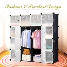 US Stock IKAYAA Large Fashion Multi-use Clothes Closet Wardrobe Living Room Cabinet DIY Cloth Shoes Storage Organizer Furniture(China (Mainland))