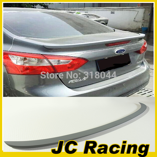 PU Unpainted Grey Primer Rear Trunk lip ,Wing lip Spoiler For Ford (fit focus 2012-2013)(China (Mainland))