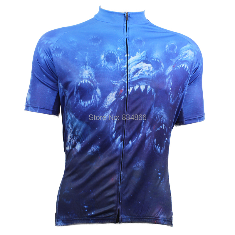 2015 men's Alien Sports Cycling Jersey blue deep Sea Fighting Short Sleeve Clothing Breathable Quick Dry Bike - cycling jerseys' store