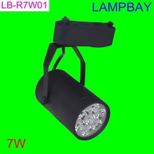 LED track light 7W high lumen high quality two wires rail base commercial lighting spotlight(China (Mainland))